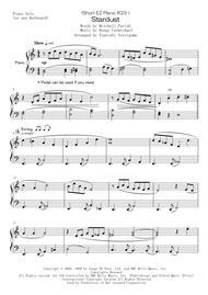 Hoagy Carmichael  Sheet Music <Short EZ Piano #23 > Stardust Song Lyrics Guitar Tabs Piano Music Notes Songbook