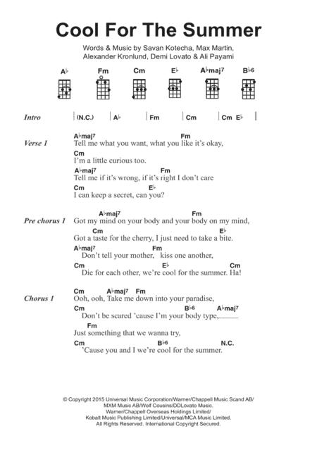 Demi Lovato sheet music to download and print - World center of ...