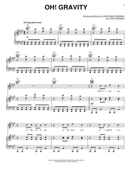 Switchfoot sheet music to download and print - World center of ...