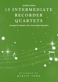 Various  Sheet Music 13 Intermediate Recorder Quartets Song Lyrics Guitar Tabs Piano Music Notes Songbook