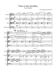 """""""Time To Say Goodbye"""" for String Quartet sheet music"""