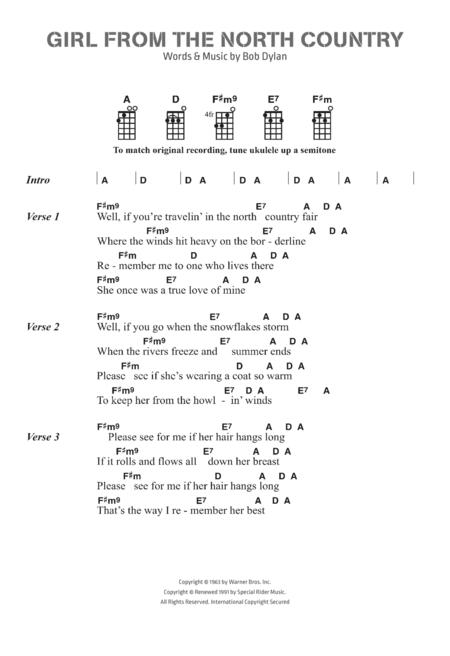 Bob Dylan sheet music to download and print - World center of ...