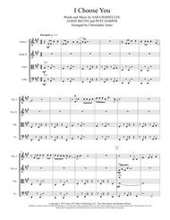"""I Choose You"" for String Quartet sheet music"