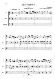 Traditional  Sheet Music 15 easy pieces for wind trio (flute, oboe, bassoon) Song Lyrics Guitar Tabs Piano Music Notes Songbook