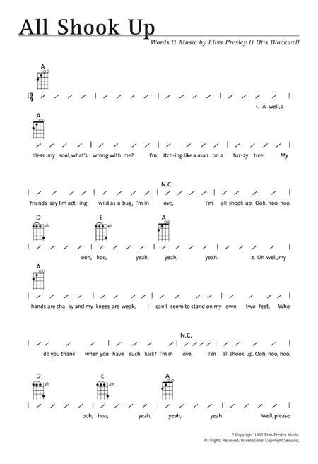 Partitions Digitales De Elvis Presley Pour Ukulele