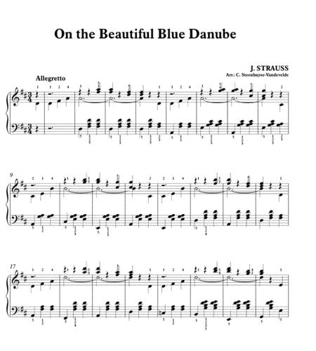 Sheet Music: On The Beautiful Blue Danube (Piano Solo