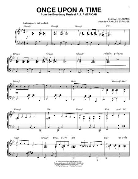 Download Digital Sheet Music of Once upon a time for Piano solo