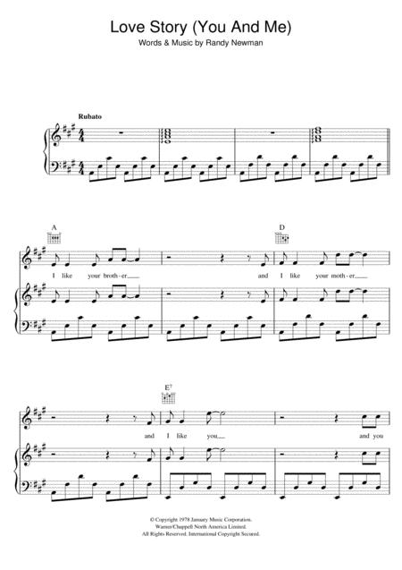 Download Digital Sheet Music Of My Life Story For Piano Vocal And