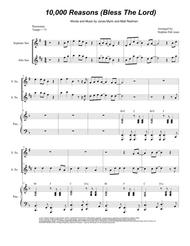 Matt Redman  Sheet Music 10,000 Reasons (Bless The Lord) (Duet for Soprano and Alto Saxophone) Song Lyrics Guitar Tabs Piano Music Notes Songbook