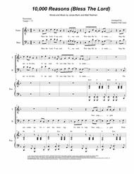 Matt Redman  Sheet Music 10,000 Reasons (Bless The Lord) (Duet for Tenor and Bass Solo) Song Lyrics Guitar Tabs Piano Music Notes Songbook