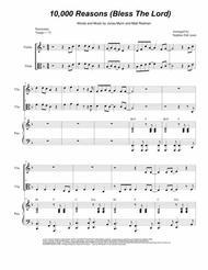 Matt Redman  Sheet Music 10,000 Reasons (Bless The Lord) (Duet for Violin and Viola) Song Lyrics Guitar Tabs Piano Music Notes Songbook