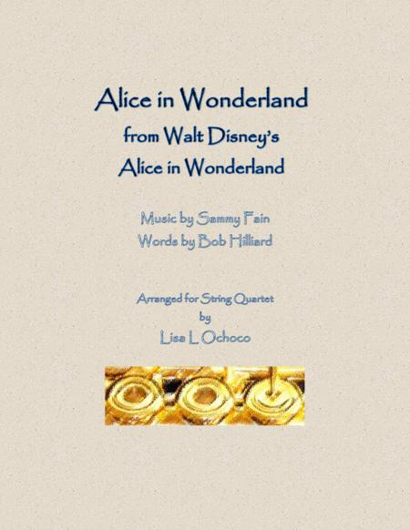 alice in wonderland piano sheet music pdf