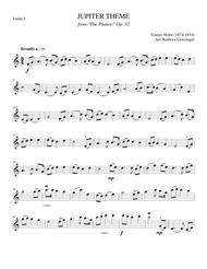 "Gustav Holst  Sheet Music ""Jupiter"" Theme, from The Planets (Gustav Holst) String Quartet Song Lyrics Guitar Tabs Piano Music Notes Songbook"