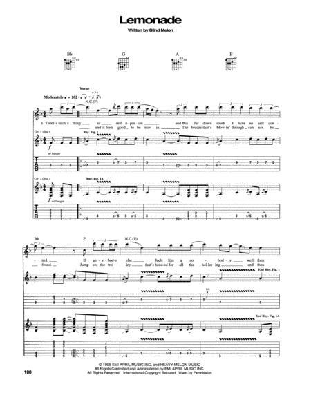 Blind Melon sheet music to download and print - World center of ...