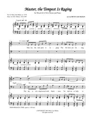 """Music by H.R. Palmer, 1834-1907, Text by Mary Ann Baker, ca. 1874  Sheet Music """"Master, the Tempest is Raging"""" for Mixed SATB Choir and Piano Song Lyrics Guitar Tabs Piano Music Notes Songbook"""