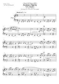 "Alan Menken  Sheet Music < Short EZ Piano #55 > Arabian Nights from ""Aladdin"" Song Lyrics Guitar Tabs Piano Music Notes Songbook"