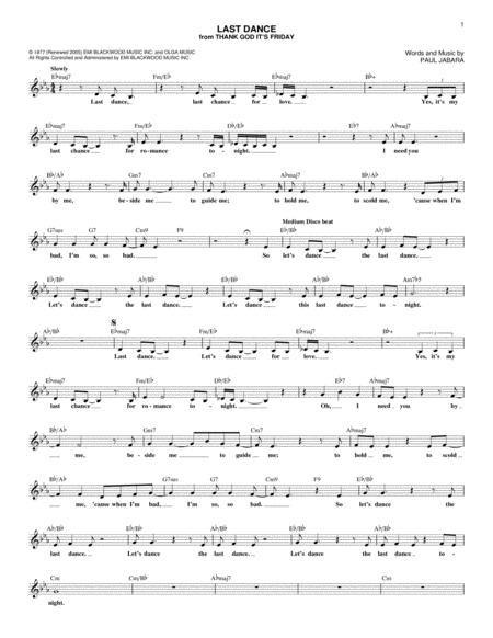 Donna Summer sheet music to download and print - World center of