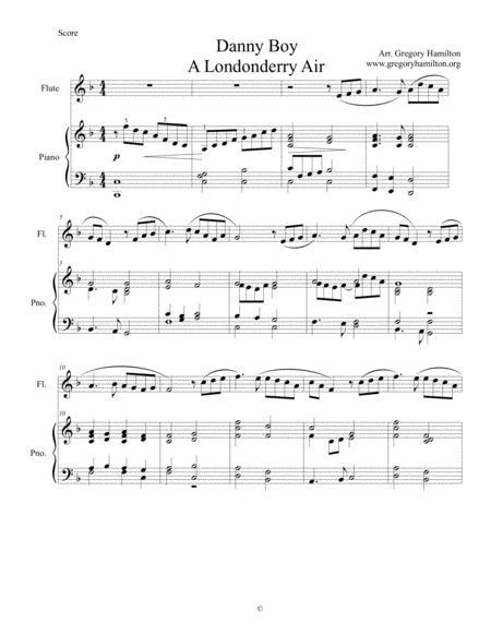 Download Digital Sheet Music of Danny Boy for Flute