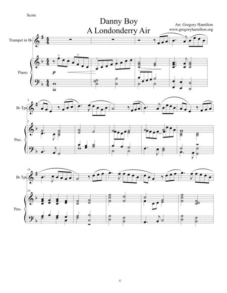 Danny Boy Londonderry Air Sheet Music To Download And Print