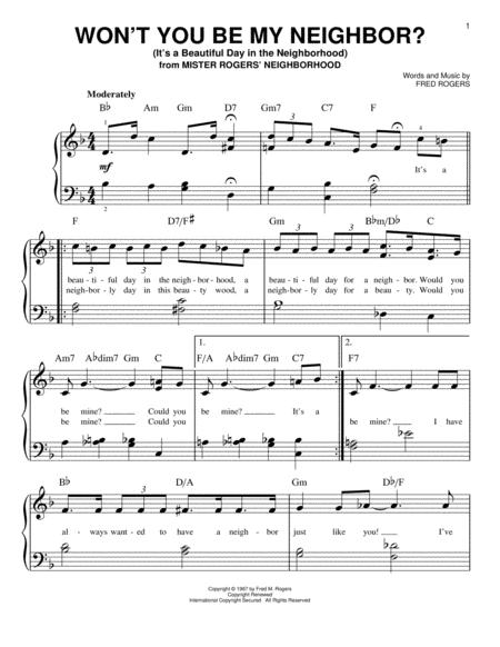 Fred Rogers sheet music to download and print - World center