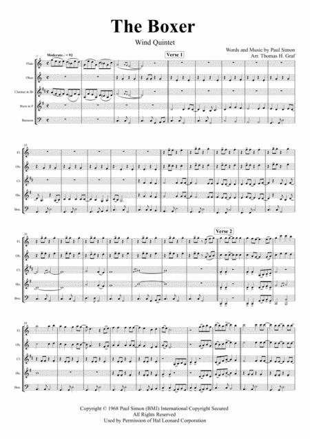 the boxer sheet music pdf