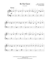 Be Our Guest - for easy piano sheet music