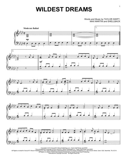 Download Digital Sheet Music of sweet dreams for Piano solo