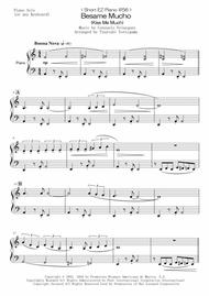 Andrea Bocelli  Sheet Music < Short EZ Piano #56 > Besame Mucho (Kiss Me Much) Song Lyrics Guitar Tabs Piano Music Notes Songbook