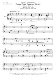 Simon And Garfunkel  Sheet Music < Short EZ Piano #57 > Bridge Over Troubled Water (Simon & Garfunkel) Song Lyrics Guitar Tabs Piano Music Notes Songbook
