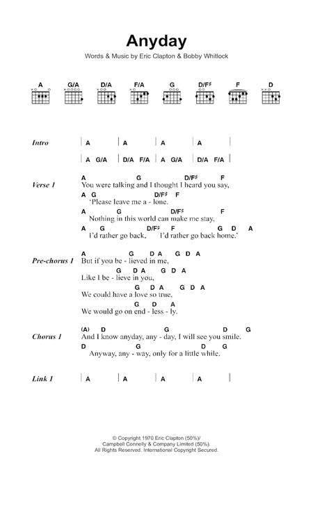 Download Digital Sheet Music of Eric Clapton for Lyrics and Chords