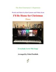 """Bing Crosby  Sheet Music """"I'll Be Home For Christmas"""" for Piano Song Lyrics Guitar Tabs Piano Music Notes Songbook"""