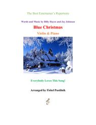 """""""Blue Christmas"""" for Violin and Piano sheet music"""