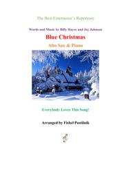 """""""Blue Christmas"""" for Alto Sax and Piano-Jazz/Pop Version sheet music"""