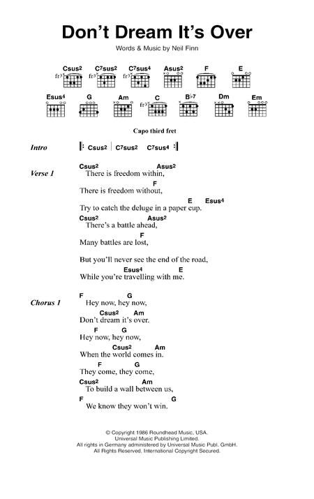 Crowded House sheet music to download and print - World center of ...