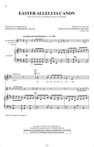 Easter Alleluia Canon sheet music