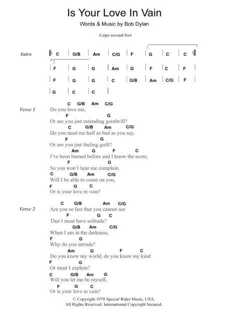 Download Digital Sheet Music of Bob Dylan for Lyrics and Chords