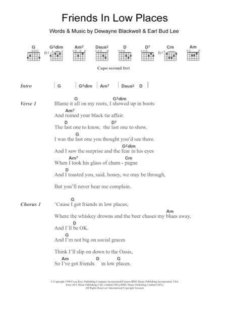 Garth Brooks Sheet Music To Download And Print World Center Of