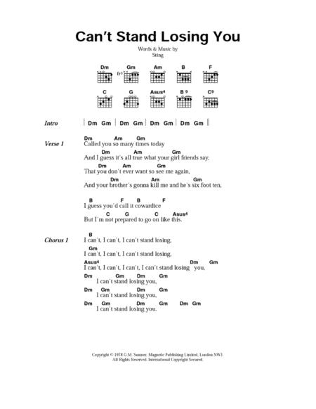 Download Digital Sheet Music Of The Police For Lyrics And Chords