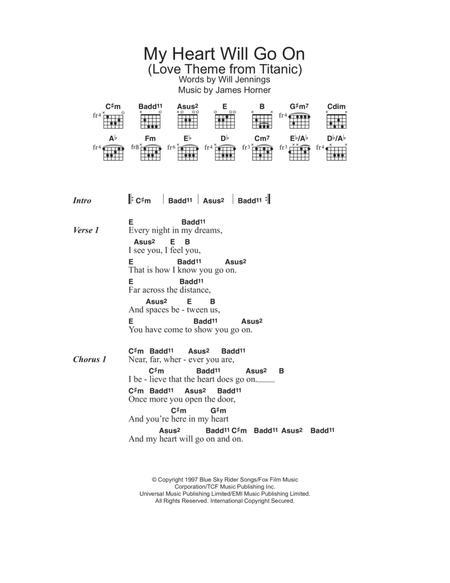 Download Digital Sheet Music of Celine Dion for Lyrics and Chords