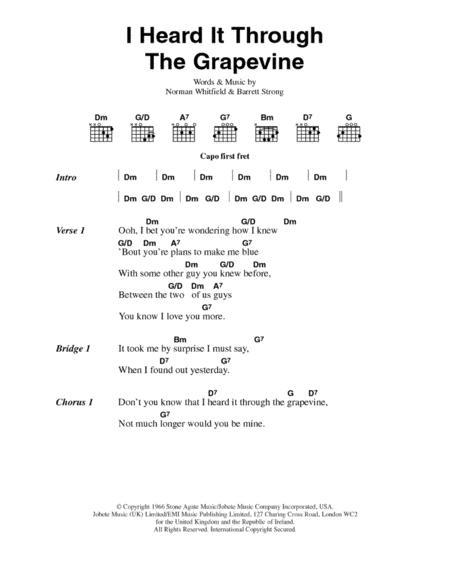 Download Digital Sheet Music Of Marvin Gaye For Lyrics And Chords