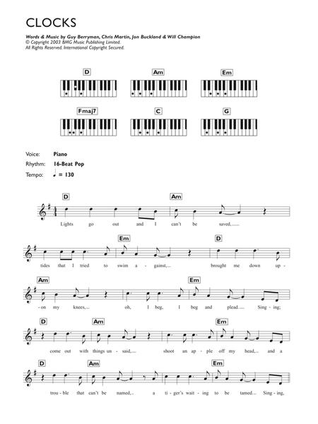 Download Digital Sheet Music Of Coldplay For Piano Solo
