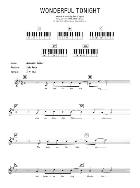 Download Digital Sheet Music of eric clapton for Piano solo