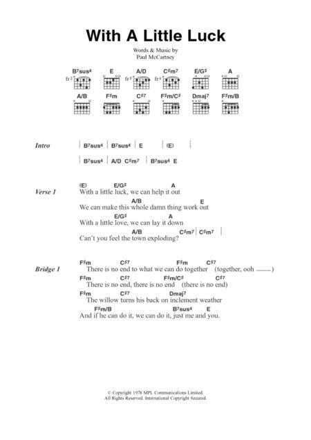 Download Digital Sheet Music Of Paul Mccartney For Lyrics And Chords