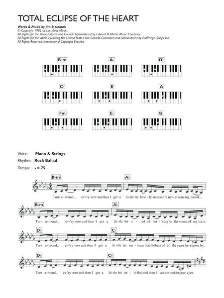 Bonnie Tyler Sheet Music To Download And Print World Center Of
