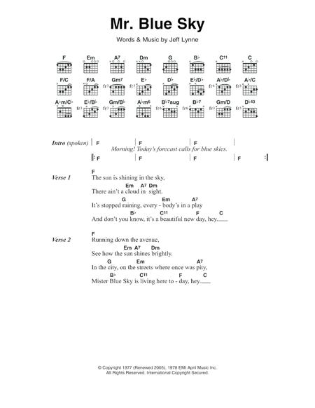 Electric-Light-Orchestra sheet music to download and print - World ...