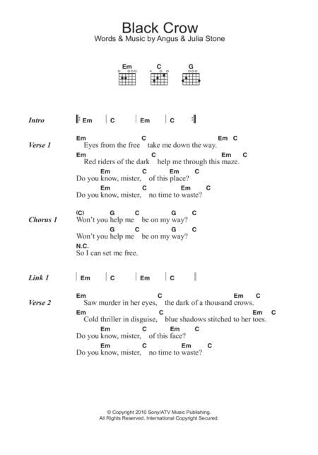 Download Digital Sheet Music Of Angus For Lyrics And Chords
