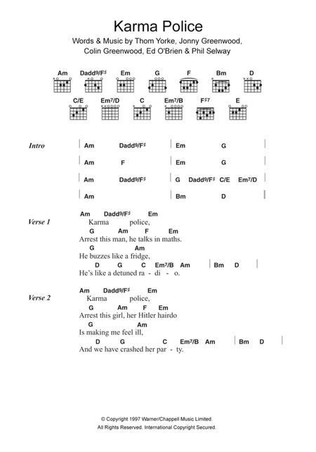Download Digital Sheet Music of Radiohead for Lyrics and Chords