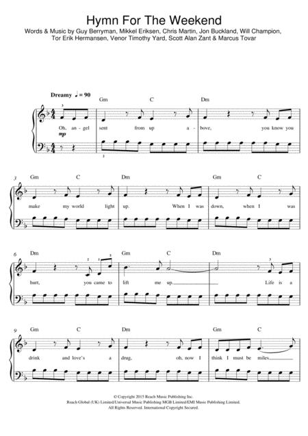 Download Digital Sheet Music Of Coldplay For Piano Vocal And Guitar