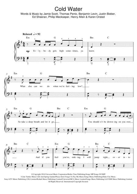 Download Digital Sheet Music Of Justin Bieber For Piano Vocal And
