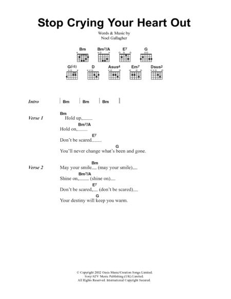 Download Digital Sheet Music of Oasis for Lyrics and Chords